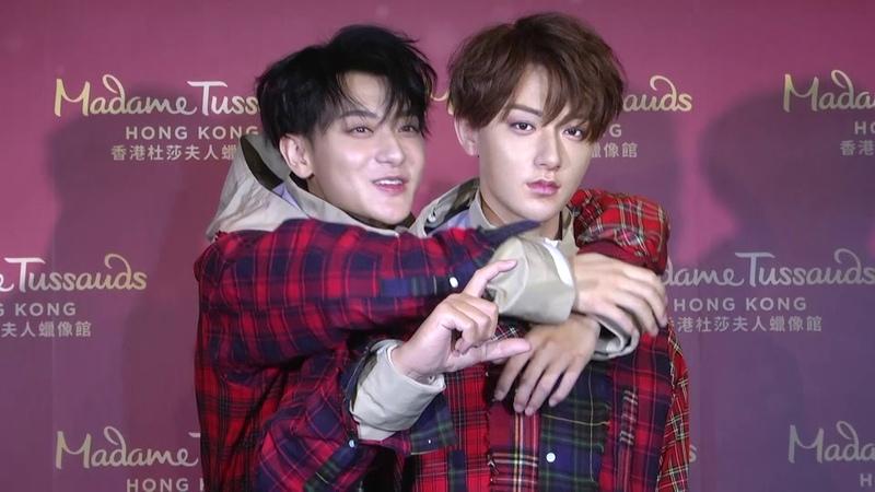 Twin brother at Madame Tussauds Hong Kong