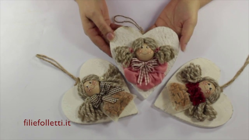 Tutorial angioletto con nastro in velluto by Sandra fili e folletti