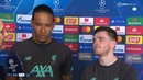 They celebrated like they won the tie Van Dijk and Robertson react to Atletico 1 0 Liverpool