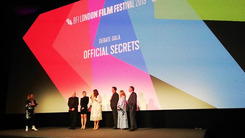 Keira Knightley on her role in Official Secrets at the Debate Gala, BFI - London Film Festival