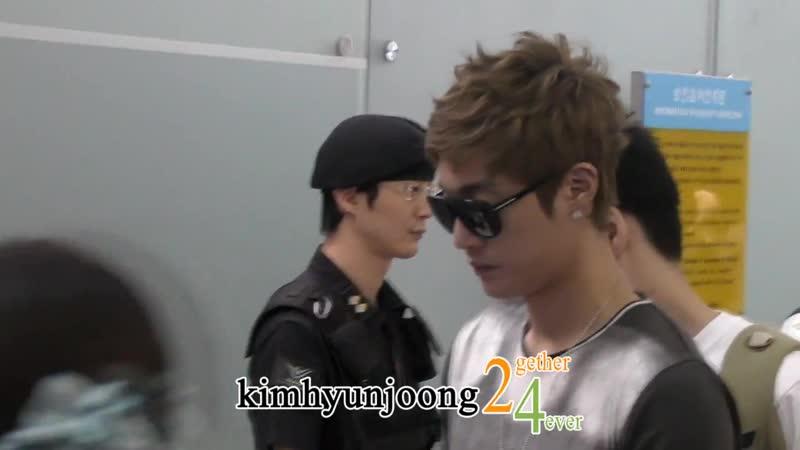 2011.08.11 kimhyunjoong fancam-Incheon Int'l airport