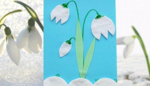 ВЕСЕННИЕ ПОДЕЛКИ ДЛЯ ДЕТЕЙ ПОДСНЕЖНИКИ Подснежники появляются, когда еще лежит снег. Из-под подтаявшего снега в марте - апреле появляются первые чудесные нежные цветки - вестники Весны, а