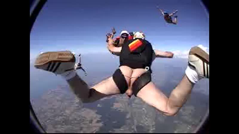 Skydiving Naked Girl