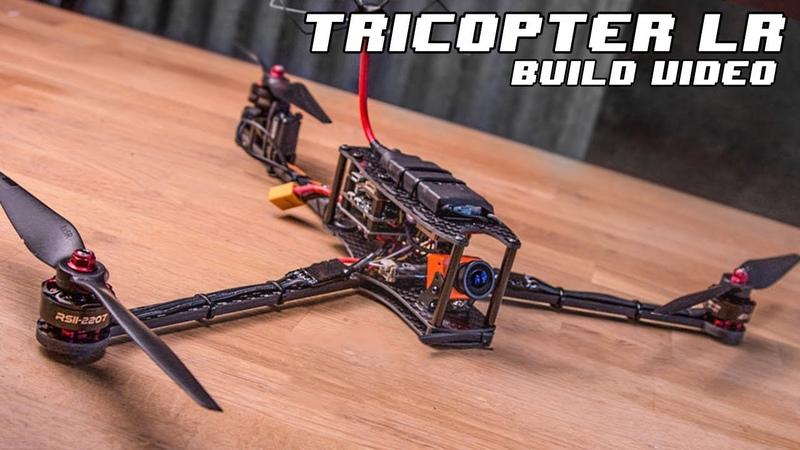 TRICOPTER LR - Long Range FPV, 1h Flight time, Foldable multirotor - Build Video.