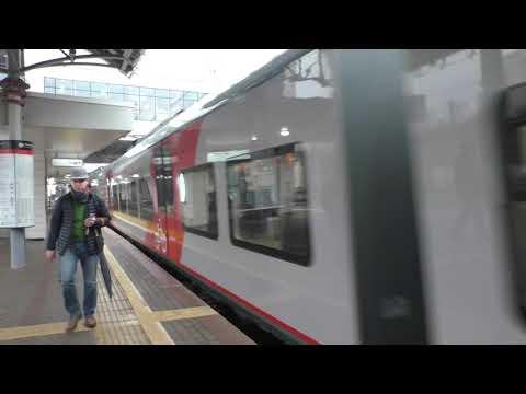 Электропоезд ЭС2Г-063 Ласточка прибывает на станцию МЦК Андроновка