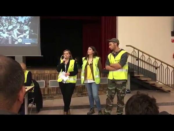 1ere Agora des Gilets Jaunes dans l'Oise avec Priscillia Ludovsky et Jerome Rodrigues