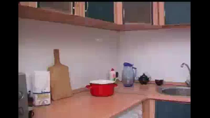 сын долбит маму на кухне