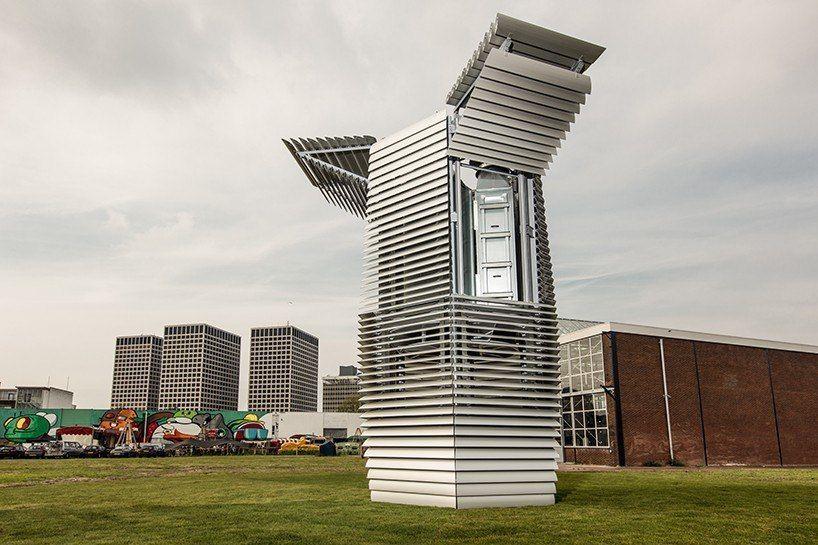 Башня в Роттердаме с очищенным воздухом.
