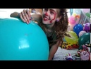 BIG 24 BALLOON Inflation in Tights | Looner Clown Girl | Non-Pop Video