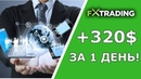 FXtrading Corporation Доход 320$ за 1 день Отзыв инвестора