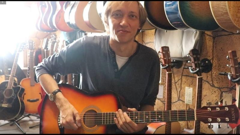 Обзор акустической гитары Fante FT-D38 3TS