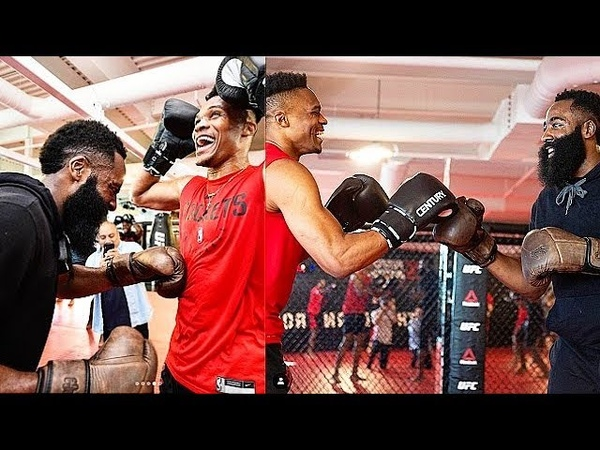 Russell Westbrook James Harden Get Ready For Rockets Debut With UFC Training!
