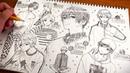 【アナログ】柄ファッションの男の子1ページいっぱいに描いてみた 12304