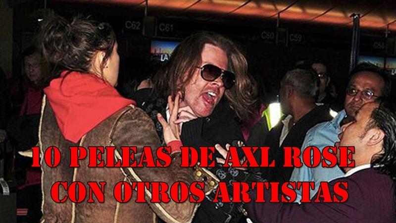 Top 10 Peleas de Axl Rose con otros artistas