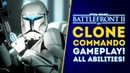 New Clone Commando Gameplay! All Abilities! Instant Action, PVE Mode! - Star Wars Battlefront 2