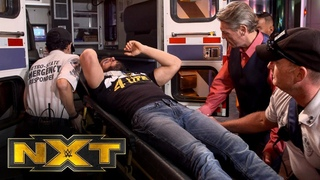 [#My1] Johnny Gargano is loaded into an ambulance after Finn Bálor's attack: WWE Exclusive, Oct. 23, 2019