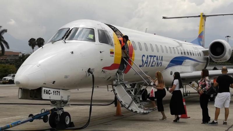 Satena vuelo inaugural Cali Medellín aeropuerto Olaya Herrera