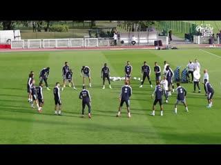 Les bleus à_lentraînement, equipe de france i fff 2019