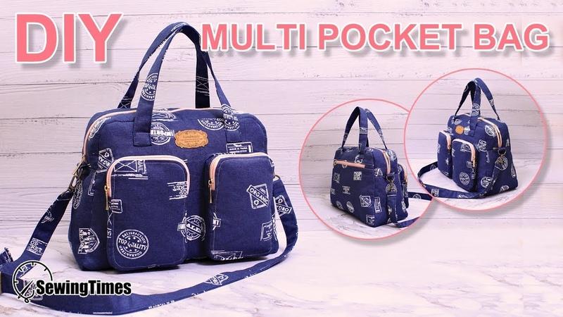DIY MULTI POCKET HANDBAG 가방만들기 | Big Size Crossbody Bag Sewing Tutorial [sewingtimes]