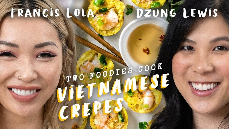 Comfort Food with Fashion Star FLAMCIS - Mini Vietnamese Crepes (Banh Khot) | Two Foodies Cook