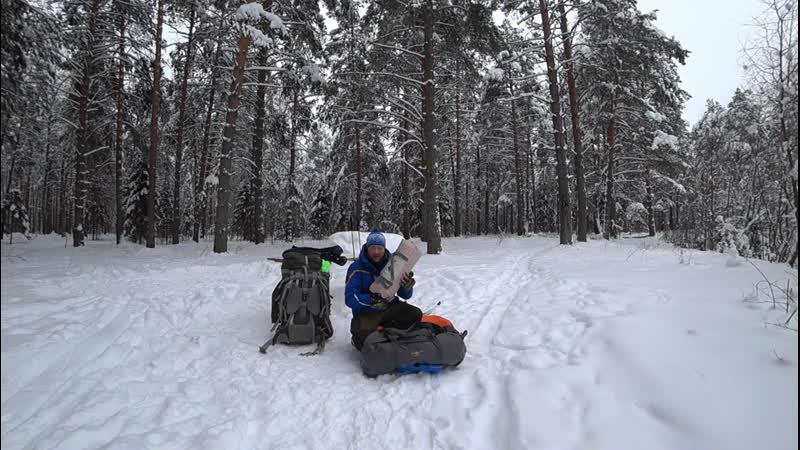 Снежная Быль (Отрывок из видео Поход по лесам, по седым снегам)