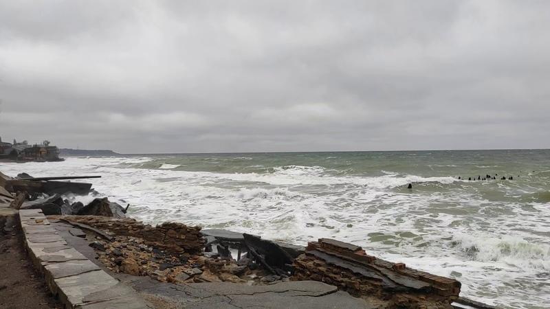 Зимний день Пляж Люстдорф Черноморка в Одесса 5