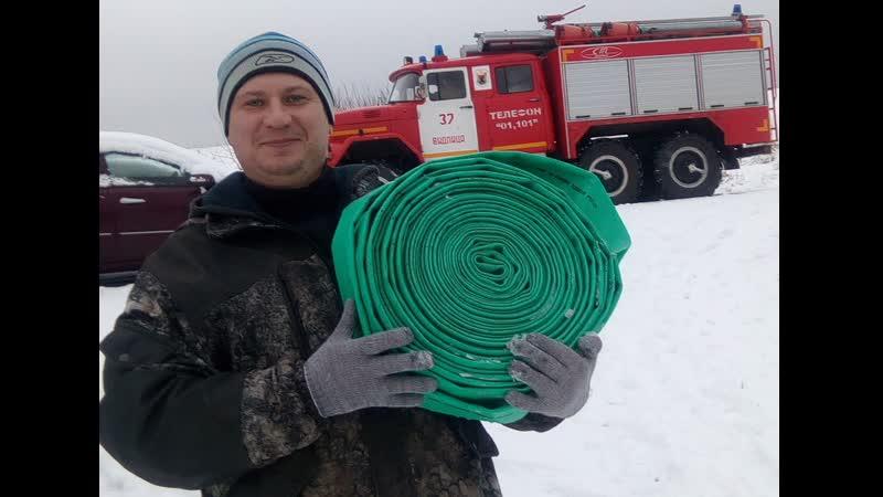 Инструктаж и пожарно-тактические учения с добровольцами пожарной дружины