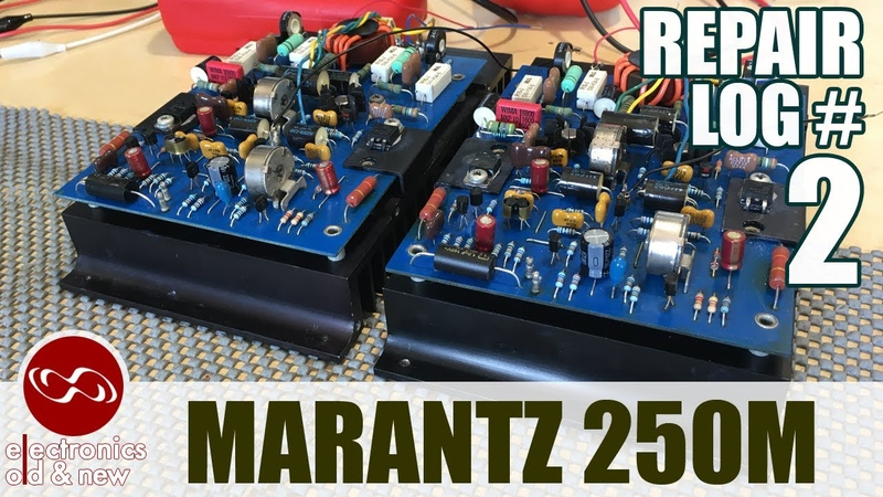 Marantz 250M amplifier repair - part 2