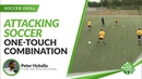 One Touch Combination Drill for 6 or More Players Attacking Soccer