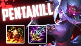 BLOODMOON KATARINA PENTAKILL - Fun 1v9 Katarina Build - Gameplay   Katlife