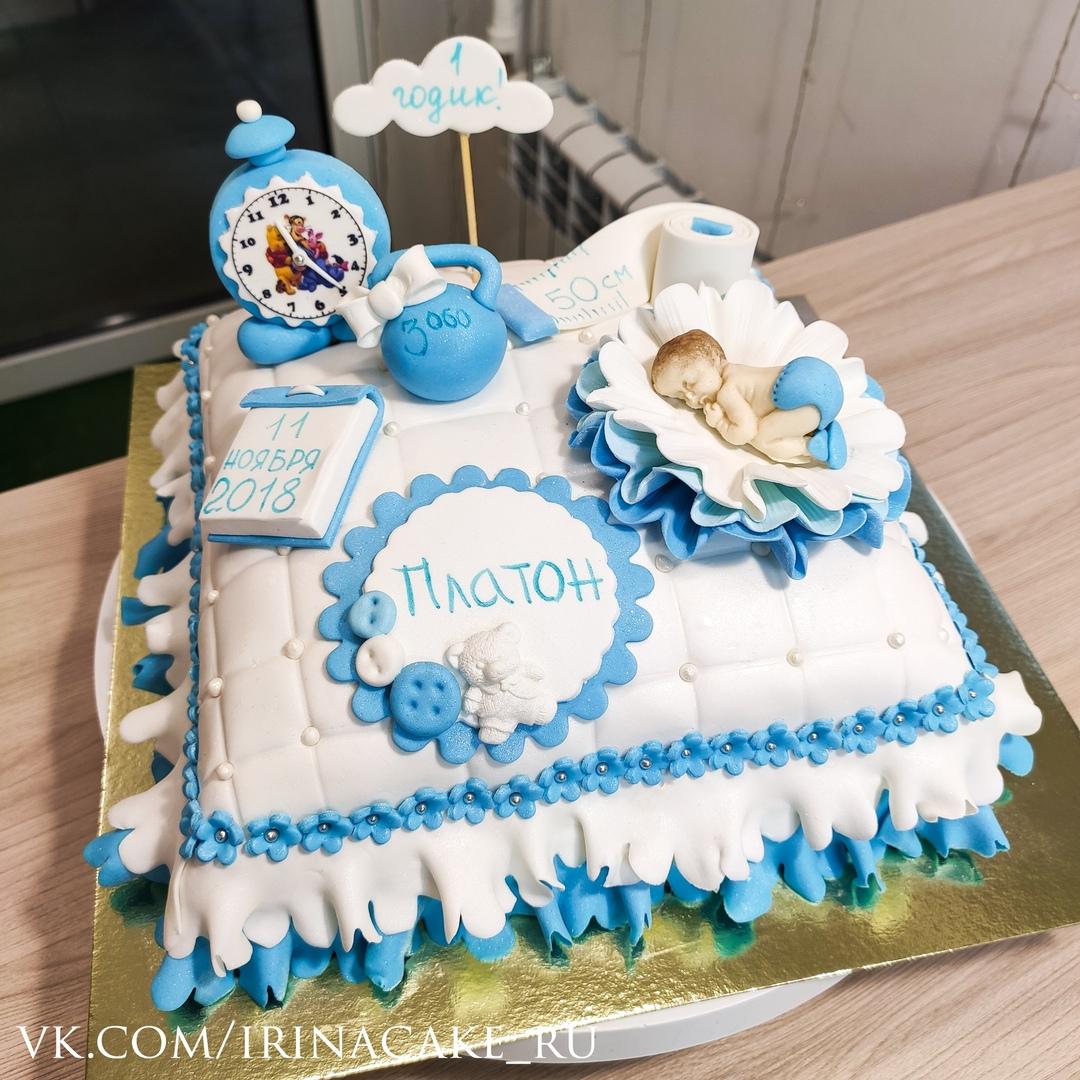 Торт в виде подушечки для мальчика (Арт. 562)