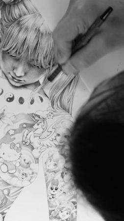 """Shadow Gallery on Instagram: """"4 minutes Timelapse of the 3 week process behind Heisei Mary by @shohei_otomo"""""""