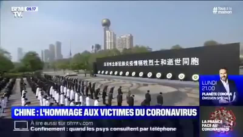 Un énième moment de racisme ordinaire ce matin sur BFMTV durant les images de la cérémonie dhommage des victimes chinoises