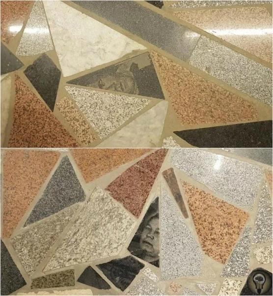 В Казахстане пол торгового центра покрыли фрагментами надгробных памятников