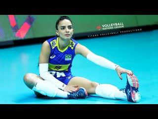Natalia araujo - beautiful brazilian libero best volleyball actions womens vnl 2019