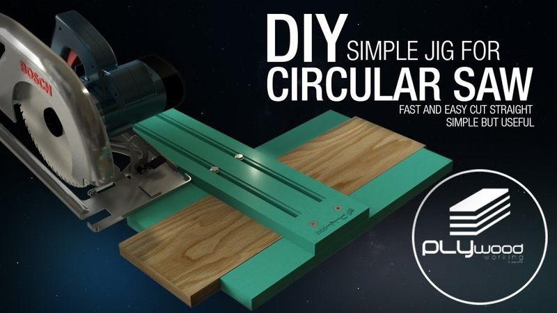 DIY Simple Jig For Circular Saw Fast Easy Straight Cut