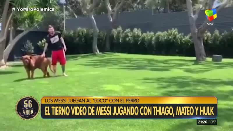 El tierno video de Messi con Thiago, Mateo y Hulk.mp4