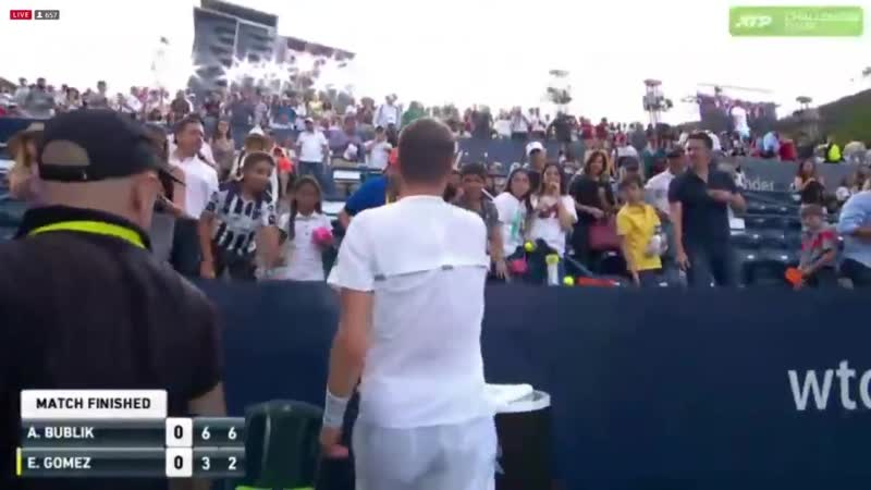 Who wants the champs racquet - - Sasha to the rescue with the official decision.
