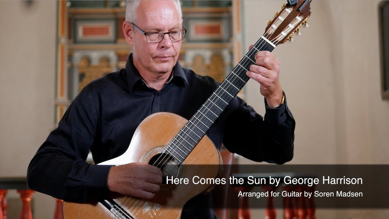 Here Comes the Sun The Beatles George Harrison Danish Guitar Performance Soren Madsen