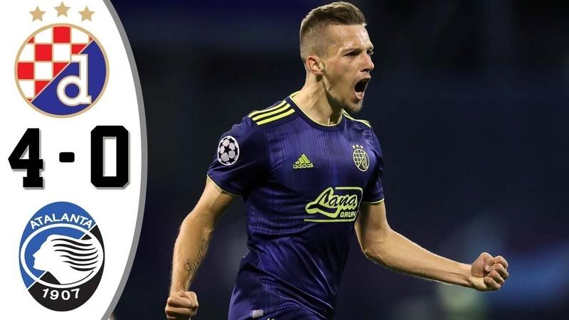 🔥 Динамо Загреб - Аталанта 4-0 - Обзор Матча Лиги Чемпионов 18/09/2019 HD 🔥