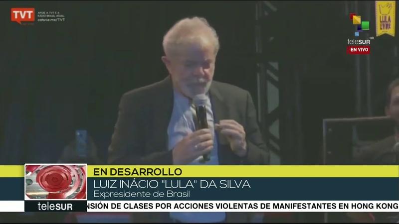 Lula agradece en Festival de Recife gestiones para lograr su libertad