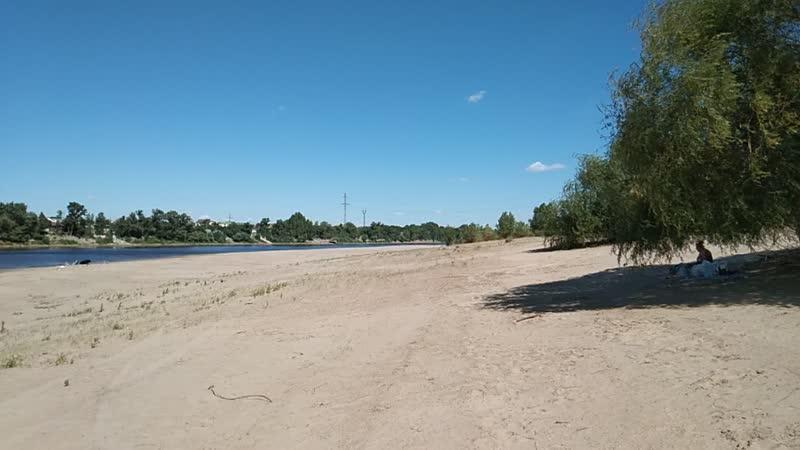 Пляж пос Лебяжья поляна Волго Ахтубинский канал