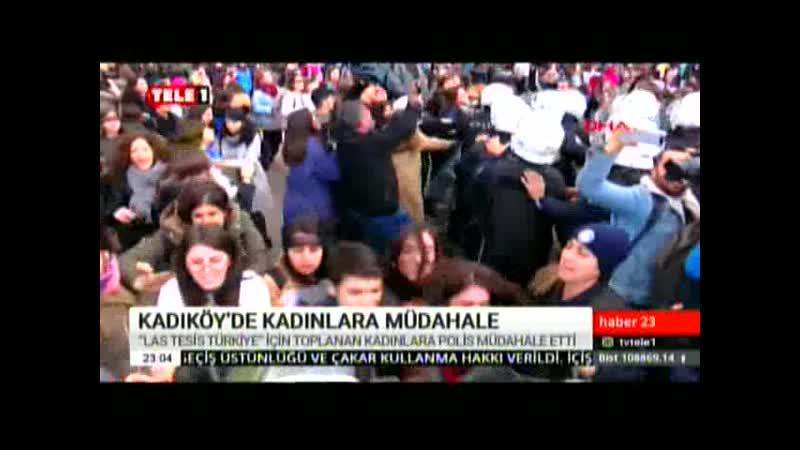 KADINLARA POLİS MÜDAHALESİ. 8.12.2019. PZR.