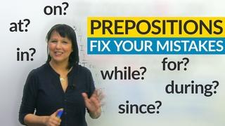 Prepositions: Fix 8 Common Errors with the. method!