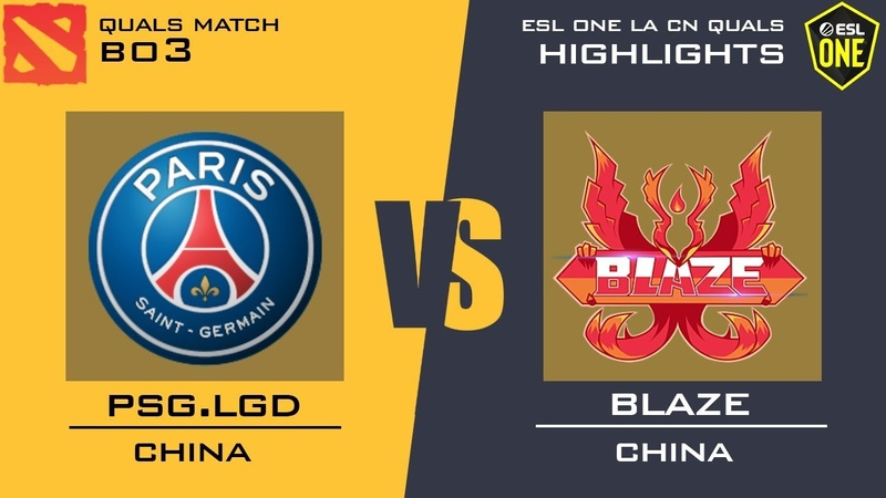 Blaze vs PSG.LGD - ESL One Los Angeles 2020 CN Open Qualifier Dota 2 Highlights