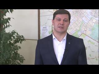Поздравление выпускников 25 школы. Мэр г. Вологды Воропанов С.А.
