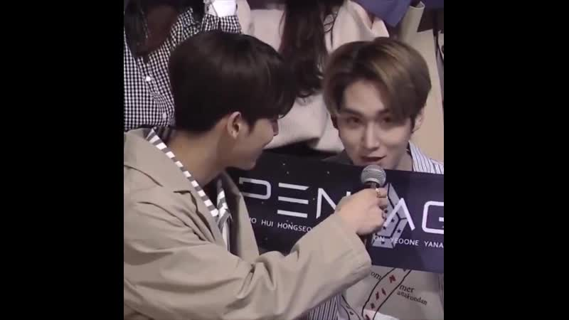 Shinwon a proud stan of pentagon and he is from pentagon