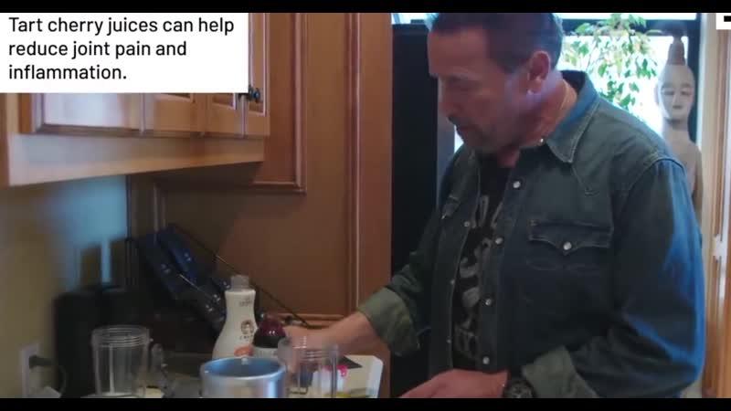 Что сейчас в холодильнике у Арнольда. Новый коктейль 2019 г от отца бодибилдинга