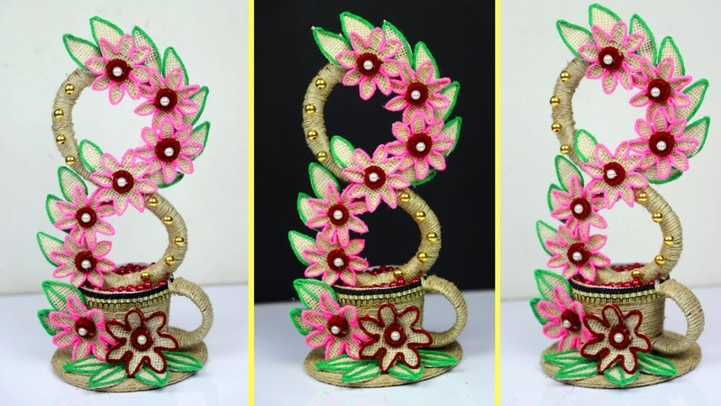 Cool Idea of Using Jute!! Showpiece Making Using Jute Showpiece Making at Home