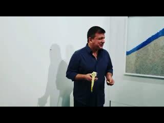 «hungry artist» eats $120k banana